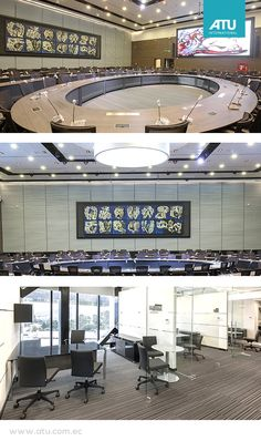 UNASUR is located in Quito, Ecuador, directly on the Equator.  UNASUR is one of the most important projects nationwide. The Hall of Presidents, one of the most important spaces within the building was fully equipped by ATU products.