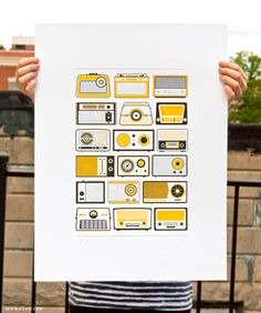 Ross Moody's screen printed poster of retro radios is really fun. He's selling 55 limited-edition prints for $14.99.