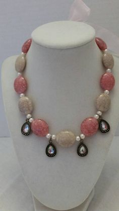 Check out this item in my Etsy shop https://www.etsy.com/listing/201430990/pink-necklace-jeweled-necklace-pearl