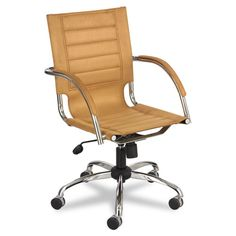 First Pick- 6 conference, 1 reception, 1 greg, 1 Jamie Safco+Flaunt+Series+Mid-Back+Manager's+Chair,+Camel+Microfiber/Chrome