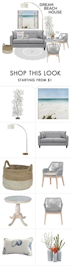 """""""Untitled #1664"""" by contrary-to-ordinary ❤ liked on Polyvore featuring interior, interiors, interior design, home, home decor, interior decorating, Pier 1 Imports, Orient Express Furniture, Surya and Harbor House"""