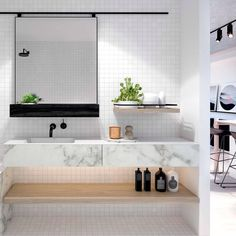 """""""M O D E R N Marble Love - A collab between @ourangle and @studioyoume + @studioyoume_kestie. LOVE :) Team DS. X #designstuff #bathroominspo #minimalstyle…"""""""