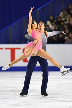 Kana Muramoto and Chris Reed of Japan compete in the Ice dance free dance during day four of the 86th All Japan Figure Skating Championships at the...