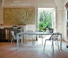 Table de repas New EASY en Aluminium, 208x100 Cm, FAST Spa