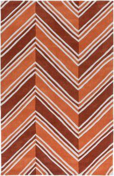 Surya OPR6003 Opera Orange, Red Rectangle Area Rug