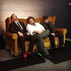 Richard Armitage, Peter Jackson and Martin Freeman