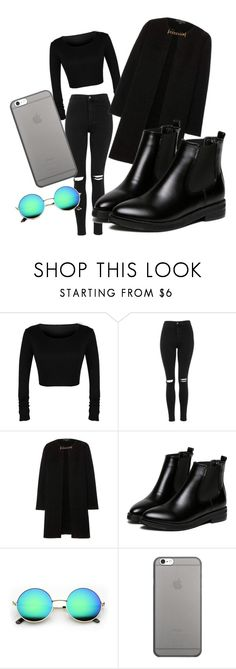 """""""inspired by gigi hadid. March 24 chicago airport"""" by kajuska-bublinka on Polyvore featuring Topshop, Burberry, WithChic and Native Union"""