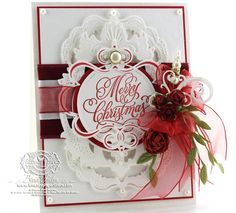 Spellbinders Gold Majesty Circles, Spellbinders Standard Circles SM, Spellbinders Gold Labels Four, Spellbinders Jewel Flowers and Flourishes, Spellbinders Twisted Metal Tags and Accents - JustRite Grand Christmas Sentiments