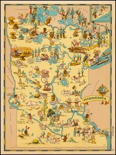 find old state maps / Minnesota - Barry Lawrence Ruderman Antique Maps Inc.