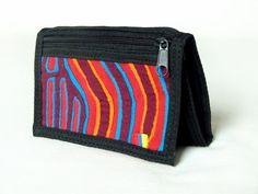 Portemonnaies - Geldbeutel aus Baumwollstoff mit Textil Mola-Dekor - ein Designerstück von MolaBags bei DaWanda