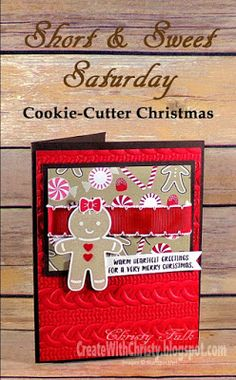Stampin' Up! Cookie Cutter Christmas, Candy Cane Lane DSP, & Cable Knit Dynamic TIEF - Christmas Card - Short & Sweet Saturday (S&SS) - Complete instructions are included in the blog post - Create With Christy - Christy Fulk, Independent SU! Demo
