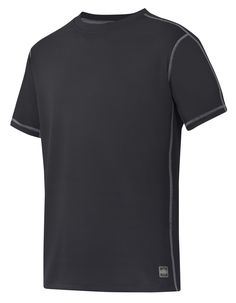 A classic in dry and fresh working comfort. Light and stretchy UV-protective T-shirt in highly functional breathable A.V.S. fabric for reliable moisture transport in the heat. Ideal for profiling. - Snickers Workwear Artnr. 2508
