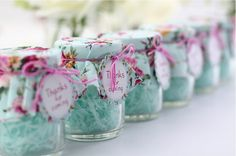 image Wedding Bottles, Wedding Favors, Wedding Gifts, Cumpleaños Shabby Chic, Troll Party, Towel Crafts, Lavender Bags, Party In A Box, Candy Jars
