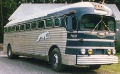 Greyhound Bus Lines 1948 Silverside Star Bus, Bus Motorhome, Prevost Bus, Converted Bus, Buses For Sale, New Bus, Bus Terminal, Vintage Rv, Bus Coach