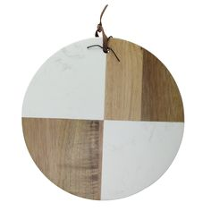 Ivory and Brown Solid Acacia Wood and Marble Round Cutting Cheese Board Cheese Cutting Board, Marble Cutting Board, Following A Recipe, Wood Rounds, Christmas Central, Florida Home, Acacia Wood, Hand Washing, Great Gifts