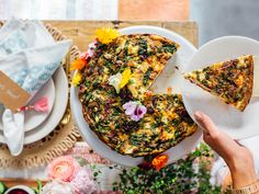 Spring Frittata with Greens and Ricotta—How To Host The Ultimate Spring Brunch