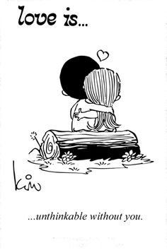 """The story behind, """"Love is..."""" cartoons. Started in the 60s and saved all the love notes <3"""