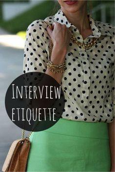 Interview Etiquette | Her Campus