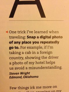 Travel Tip