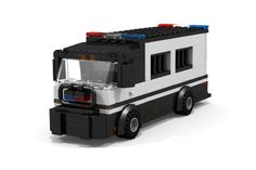 Custom LEGO MOC Police Prison Bus http://www.custombricksets.com/product/prison-bus/