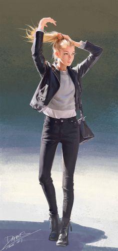 Imagen de anime girl and background