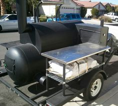 Great pit Bbq Smoker Trailer, Bbq Pit Smoker, Fire Pit Bbq, Barbecue Grill, Bar B Que Grills, Smoker Cooker, Smoker Designs, Custom Bbq Pits, Portable Grill