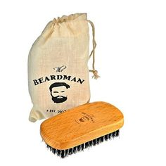 The Beardman Beard & Hair Brush, Bamboo/Beachwood with Soft Boar Bristles, Comb Beards and Mustache Complete with Muslin Style Cotton Gift Bag (Soft) Cream Dachshund, Dapple Dachshund Puppy, Dachshund Puppies For Sale, Dachshund Shirt, Dachshund Gifts, Dachshund Quotes, Beard Brush, Beard Balm, Hair Brush
