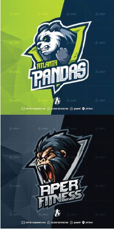 Gorila panda e sports mascot logo , best game graphic design, top gaming inspiration ideas inspiration Mascot Design, Logo Design, Graphic Design, Gaming Logo, Gamer Quotes, Pokemon, Esports Logo, Computer Icon, E Sport