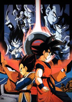 Vegeta and Goku - One of the most epic fights back in the days. This was before every Saiyan took the spotlight and became SSJ's. This fight looks like the confrontation of Goku and Vegeta in the Wastelands. Tense but epic. Dragon Ball Z, Manga Anime, Anime Art, Manga Dragon, Dragon Pictures, Geeks, Fan Art, Animes Wallpapers, Anime Shows