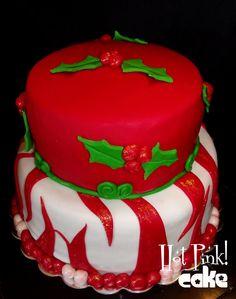 Christmas Cake  www.hotpinkcake.com