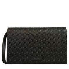 5ba47b6842 Gucci Guccissima GG Leather Crossbody Shoulder Wallet Bag Black 466507   Gucci  SaintLaurent  Balenciaga. Queen Bee of Beverly Hills