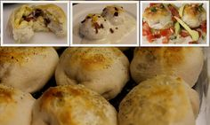 Stuffed Breakfast Bubble Biscuits. Perfect back to school breakfast that can be frozen.