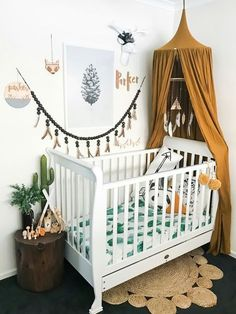 I think I found my favorite baby bedding. Look at this watercolor cactus bedding for a baby crib. I like the Scandinavian feel of this nursery. For more Interior design and Scandinavian nursery decor, follow us!