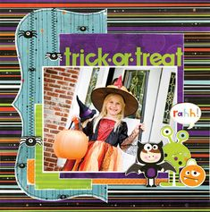 trick or treat using Whoo-ligans from Bo Bunny - Scrapbook.com