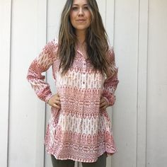 """Dahlia"" Patterned Tunic from Carly Jean for $58.00"