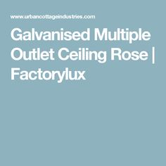 Galvanised Multiple Outlet Ceiling Rose | Factorylux