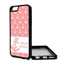 Apple iPhone 6 Case pink anchor pattern cute hipster quote - iPhone 6 Case - Design Cover Skin BLACK RUBBER SILICONE TPU Teen Girls Gift Vintage Fashion Art Print Cell Phone Accessories MNTHINGS http://www.amazon.com/dp/B00P08FX36/ref=cm_sw_r_pi_dp_f7Suub15DTER3