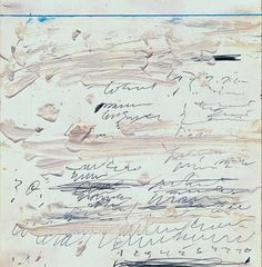 Cy Twombly, Poems to the Sea, XIX, 1959 [Cy Twombly Foundation. Photo: Gallery Heiner Bastian]