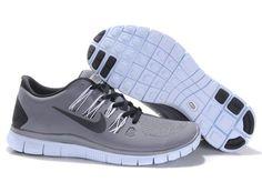 Nike Free 5.0 Grey Black Mens Running Shoes