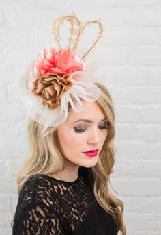 7b584911694 This beautiful custom Kentucky Derby hat fascinator is the perfect piece  for any Derby