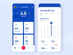 Glucose tracker designed by SELECTO. Connect with them on Dribbble; the global community for designers and creative professionals. Login Design, App Ui Design, User Interface Design, Parallax Effect, Identity, Designer Friends, Branding, Ui Design Inspiration, Health App