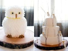 love these owl cakes
