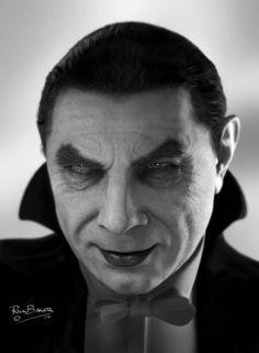 Bela Lugosi as Count Dracula by Rick Baker using  Modo, Zbrush and Photoshop.