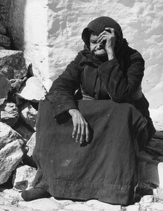 Old lady, Skiathos, Greek island, 1960 - by Wolfgang Suschitzky (1912 - 2016), Austrian
