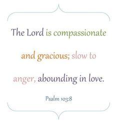 Verse of the Week ~ Psalm 103:8 (Free Printable)