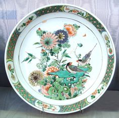 Wucai plate for exportation Kangxi period circa 1680 bis - Chinese ceramics - Wikipedia