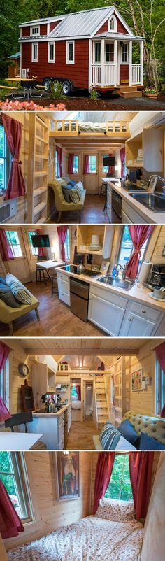 Scarlett of the Mt. Hood Village Resort in Oregon Tiny House Company, Tiny House Plans, Tiny House On Wheels, Tumbleweed Tiny Homes, Tiny House Nation, Shed Homes, Tiny House Movement, Tiny Spaces, Tiny House Living
