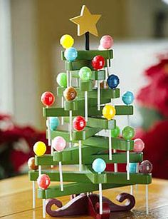 Lollipop Tree surely one of you creative sorts could figure out how to make this for me!