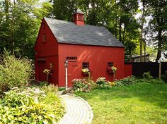 Country Carpenters makes sure that we leave all of our customers happy if we provided them with our country barn building services, a New England style shed, or one of our precut shed kits. New England Homes, New England Style, Timber Frame Garage, Roof Sheathing, Barn Kits, Country Barns, Country Life, Shed Kits, Red Barns