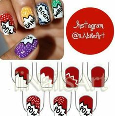 Bam Pow Wow Cool nail design